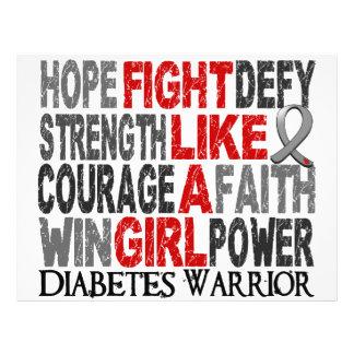 Luta como um diabetes 23 4 da menina panfleto coloridos
