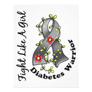 Luta como um diabetes 29 4 da menina panfletos personalizado