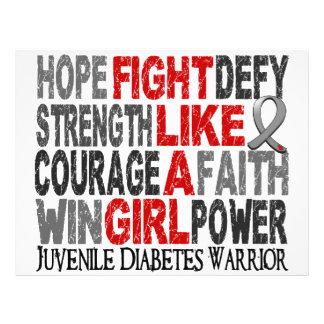 Luta como um diabetes juvenil 23 4 da menina panfletos coloridos