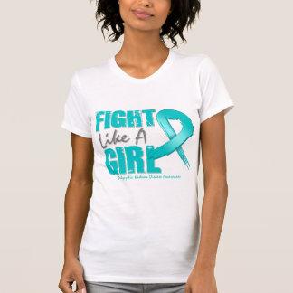 Luta como um PKD afligido menina T-shirt