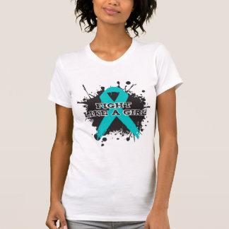 Luta como um Splatter da menina - PKD Camisetas