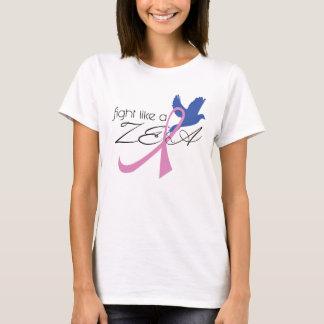 luta como uma camisa da consciência do cancro da