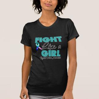 Luta como uma menina que brilha - cancer de tiróid tshirt