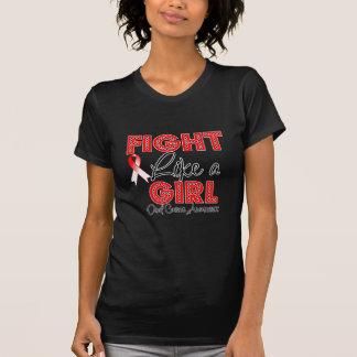 Luta como uma menina que brilha - cancer oral camisetas
