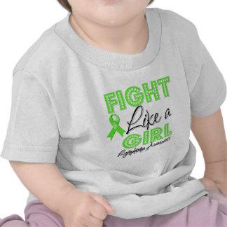 Luta como uma menina que brilha - linfoma t-shirt