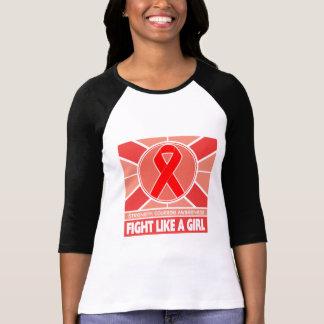 Luta da doença do curso como uma bandeira da camiseta