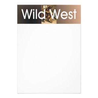 Luta ocidental selvagem do T Convites Personalizados