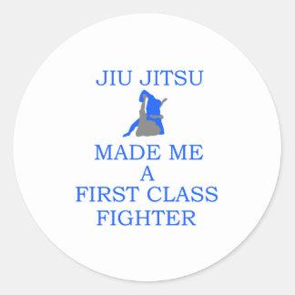lutador brasileiro do jitsu do jiu adesivo