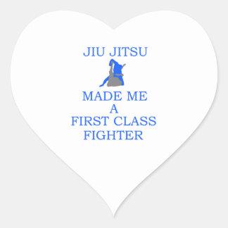 lutador brasileiro do jitsu do jiu adesivo coração
