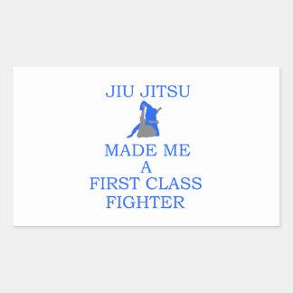 lutador brasileiro do jitsu do jiu adesivo retangular