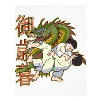 Lutadores do karaté do dragão panfletos personalizados
