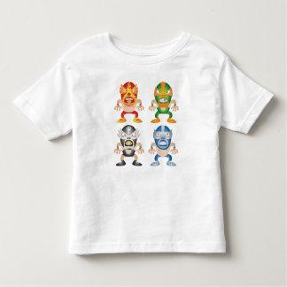 Lutadores do mexicano dos desenhos animados camiseta infantil