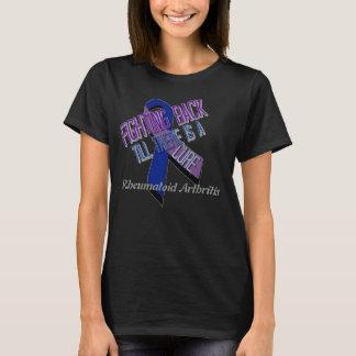 Lutando para trás a camisa da artrite reumatóide