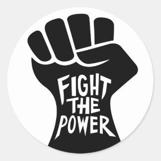 Lute a etiqueta do punho do poder