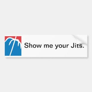 Lute - o americano, mostra-me seu Jits. Adesivo Para Carro