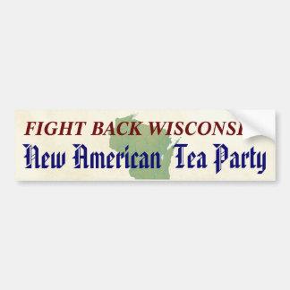 Lute para trás o tea party americano novo de adesivo para carro