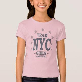Luva americana T-Shir do boné do roupa das meninas Camiseta