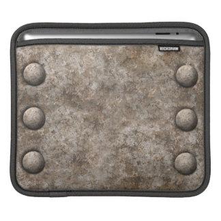 Luva áspera do iPad do design do metal w/Rivets Bolsa Para iPad