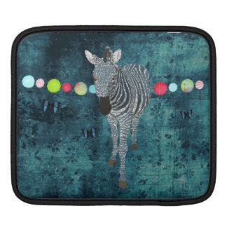 Luva azul da meia-noite do iPad da zebra Bolsas De iPad