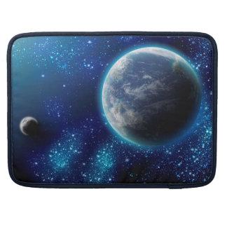 Luva azul dos planetas bolsas para MacBook