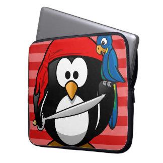 Luva bonito do caderno do pirata do pinguim capas para laptop