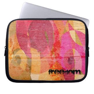 Luva colorido da liberdade capa de computador notebook