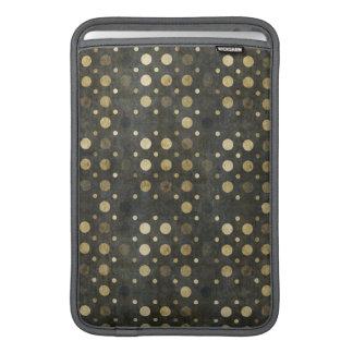 Luva de ar de Macbook das bolinhas do ouro Bolsas De MacBook