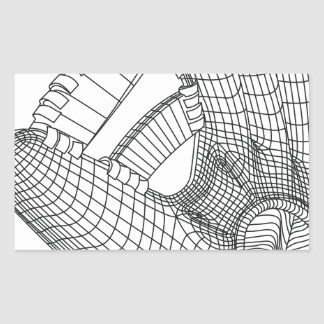 luva de basebol adesivo retangular
