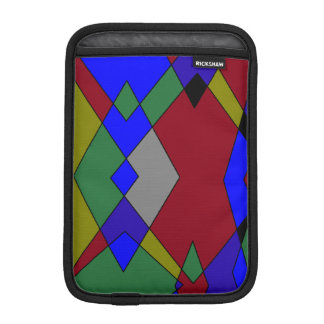 Luva De iPad Mini Abstrato colorido retro do diamante