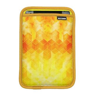 Luva De iPad Mini Design geométrico do cubo do Sunburst amarelo