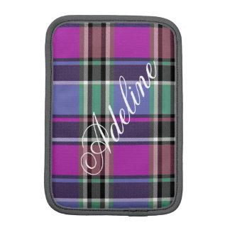 Luva De iPad Mini HAMbWG - caixa do computador - xadrez violeta