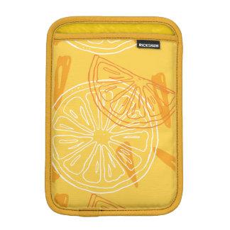 Luva De iPad Mini Limões amarelos brilhantes teste padrão tirado do