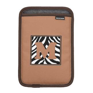 Luva De iPad Mini Luva do iPad Monogrammed da pele M da zebra mini