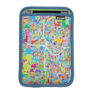 Luva De iPad Mini Mapa colorido de Atlanta