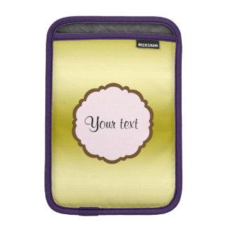 Luva De iPad Mini Ouro glamoroso personalizado