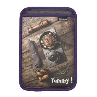 Luva De iPad Mini Receita de madeira saboroso
