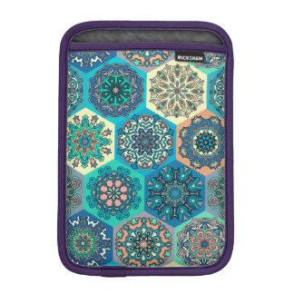 Luva De iPad Mini Retalhos do vintage com elementos florais da
