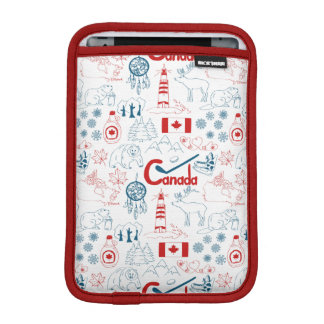 Luva De iPad Mini Teste padrão dos símbolos de Canadá |