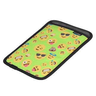 Luva De iPad Mini Teste padrão engraçado de Emoji (verde)