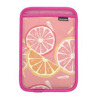 Luva De iPad Mini Teste padrão tropical da toranja cor-de-rosa e do