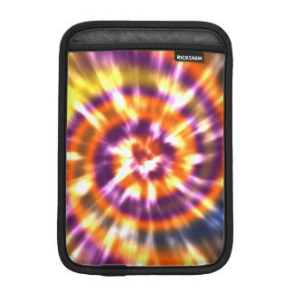 Luva De iPad Mini Tintura retro Boho colorido do laço da paz do