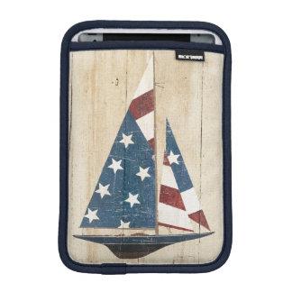 Luva De iPad Mini Veleiro com bandeira americana