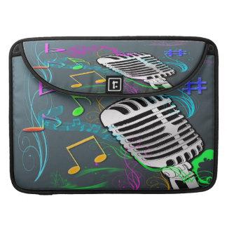 Luva de Macbook da música retro pro Bolsas Para MacBook