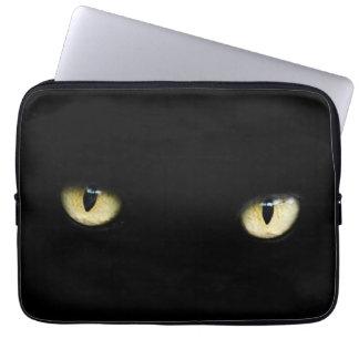 Luva de MacBook do Laptop/dos olhos de gato preto Capa De Notebook