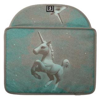 Luva de Macbook do unicórnio (aço da cerceta) Bolsas MacBook Pro