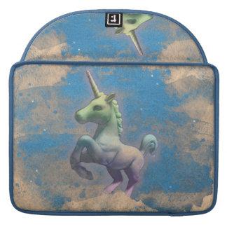 Luva de Macbook do unicórnio (azul de Sandy) Bolsa Para MacBook Pro