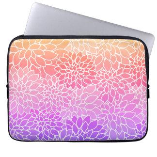 Luva de saco floral feminino do laptop capa para laptop