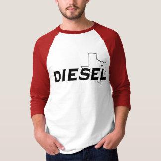 Luva diesel vermelha/preto 3/4 camiseta