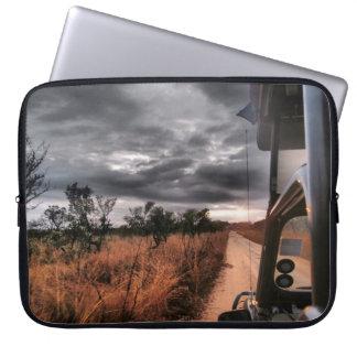 Luva do computador, cena africana do safari capas de notebook