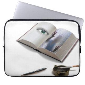 luva do escritor de mistério bolsa e capa de notebook